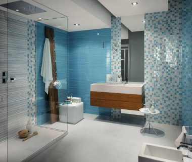 Design badkamer blauw